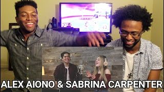 Attention by Charlie Puth | Alex Aiono and Sabrina Carpenter Cover (REACTION)