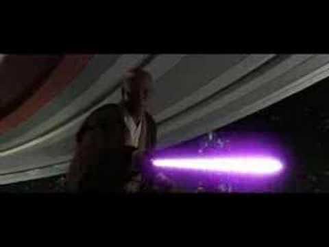 Mace Windu vs Darth Sidious Sped Up - YouTube