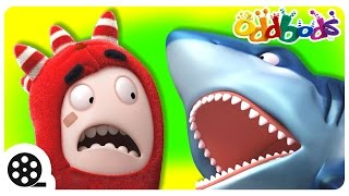 Oddbods Vs The WILD | Shark Attack | Cartoons For Kids