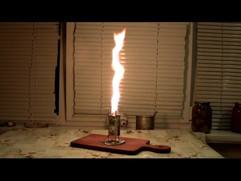 Как сделать свечу на естественной тяге / how to make a candle under its own power
