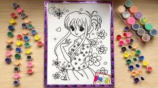 Đồ chơi tô màu công chúa hoa mai - Bé học tô màu - Coloring princess (Chim Xinh)