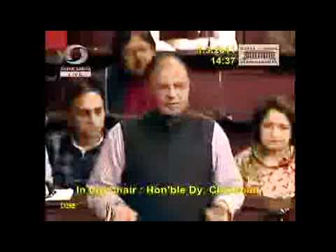 'Arun Jaitley' Responds To 'Kapil Sibal' In RAJYASABHA : 01/03/11: JPC-Formation Motion Moved
