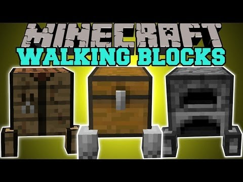 Minecraft: WALKING BLOCKS (BLOCKS THAT FOLLOW YOU!) Block Golems Mod Showcase