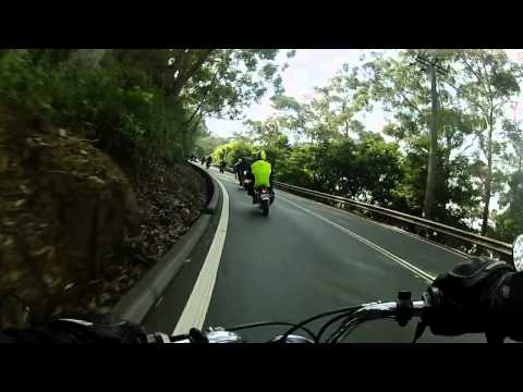 Honda Monkey z50 Group Ride Wollongong NSW 2012 - GoPro Hero 2