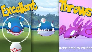 KYOGRE Excellent Throws EVERY TIME! How To Hit More Excellent Throws + SHINY KYOGRE | Pokémon Go