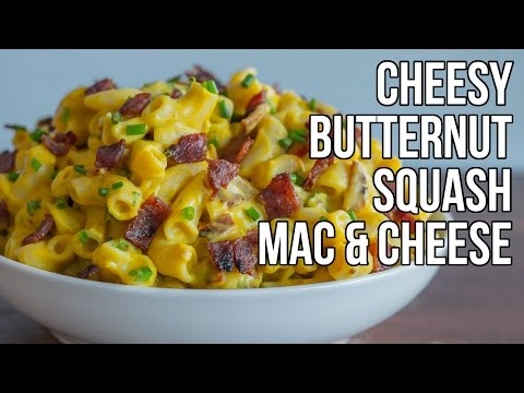 Cheesy Butternut Squash Mac & Cheese / Macarrones con Queso y Calabaza thumbnail