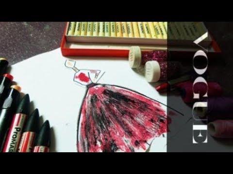 لاول مره رسم الفساتين باستخدام الميكب و النار ☠ ☠ ☠  fashion by  fire and lipstick  #kiranoviski