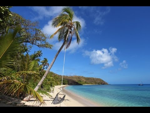 (Nature Relaxation Video) Hammock in Paradise - Fiji Islands Tropical Nature Video 1080p HD