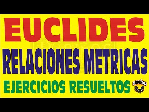 EL TEOREMA DE EUCLIDES EJERCICIOS RESUELTOS