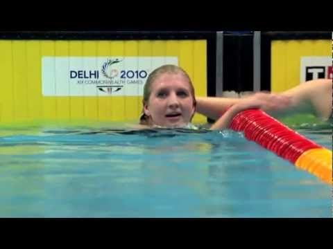 Rebecca Adlington 800m Freestyle Gold - Delhi 2010 | Medal Memories
