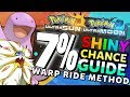 7% Shiny Pokemon Chance  - Ultra Warp Ride Shiny Hunting | Pokemon Ultra Sun & Moon