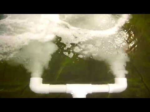 Airlift aeration oxygen for koi fish pond how to save for Do it yourself fish pond