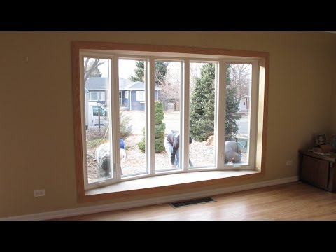 Bow window installation