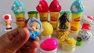 4 Colors Play Doh Ice Cream Cups LOL Cars Hatchimals Surprise Toys Zuru 5 Kinder Surprise Eggs