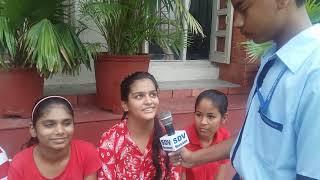 Interview of Girls of Class IX who won Inter Class Basketball Match,July 2018