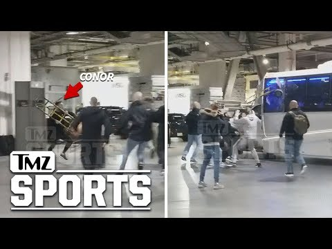 Insane Alternate Angle of Conor McGregor Bus Attack | TMZ Sports