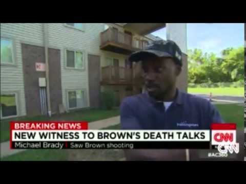 Eyewitness says Michael Brown fell towards the officer