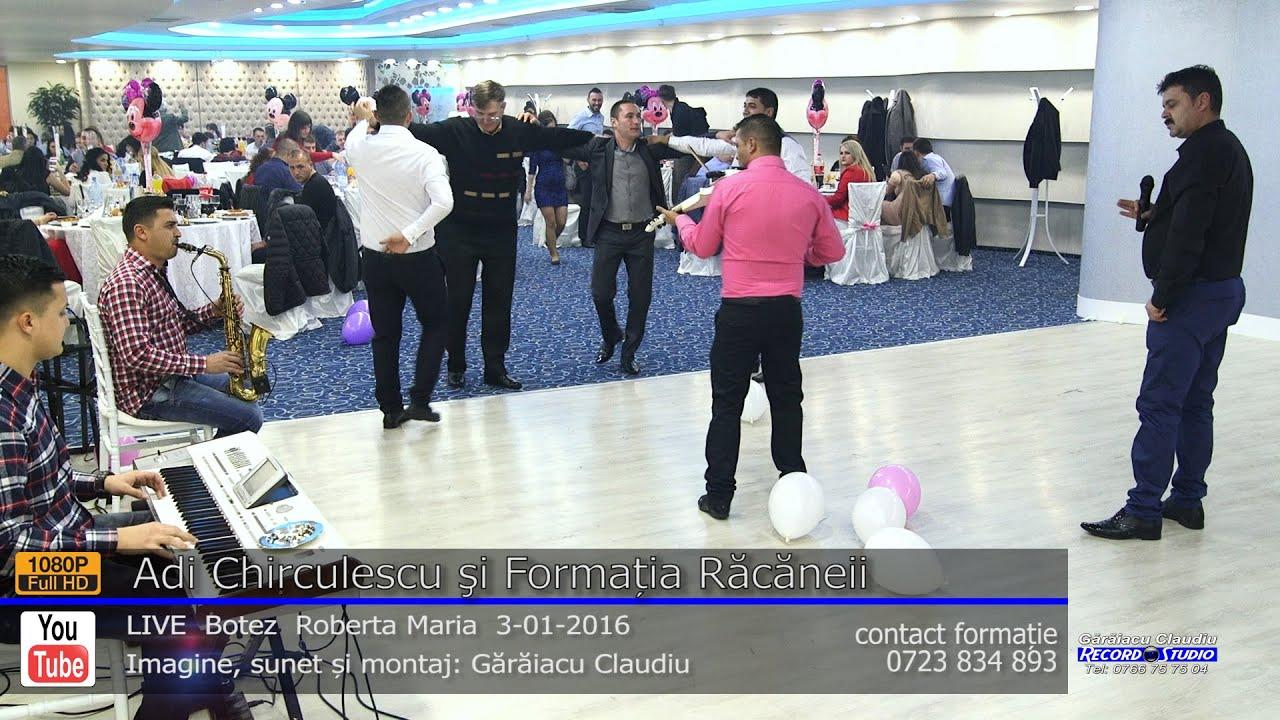 Adi Chirculescu si Formaţia Răcăneii Colaj SARBA LIVE part.1 Botez Roberta Maria 3-01-2016