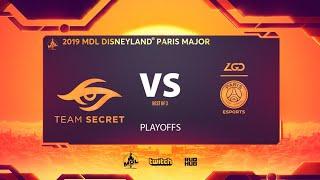 Team Secret vs PSG.LGD, MDL Disneyland® Paris Major, bo3, game 1 [Adekvat & NS]