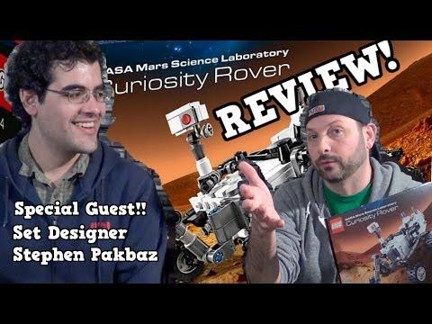 LEGO Mars Curiosity Rover Review with Set Designer Stephen Pakbaz! CUUSOO 21104