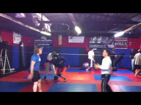 11-26-12 Boxing class warm ups and cardio Image 1
