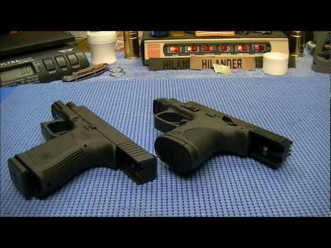 Glock 19 vs S&W M&P 9c on the Table