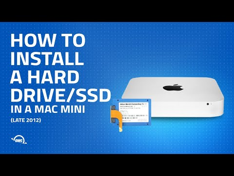 How to Add a Second Hard Drive in a 2012 Mac mini with the OWC Data Doubler