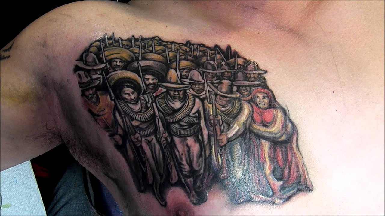 67 siqueiros color mural tattoo by marvel xavier for Mural tattoo