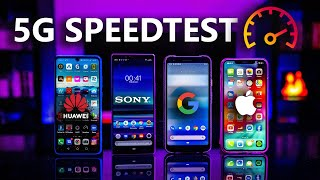 Sony Xperia 1 vs Huawei P30 Pro vs Google Pixel 3a XL vs iPhone XS Max - Wifi 5G Speedtest !