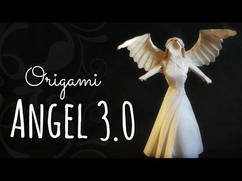 Рождественский оригами Ангел