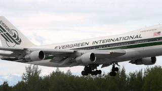 Evergreen International Airlines Boeing 747-200 [N485EV] lands in Anchorage