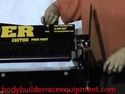 52in box and pan brake / shear combo - radius bar demo