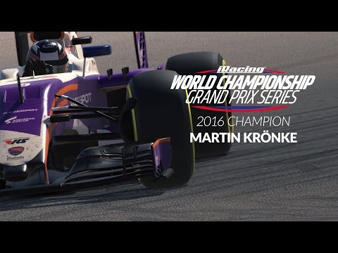 Martin Krönke wins the 2016 iRacing World Championship GP Series