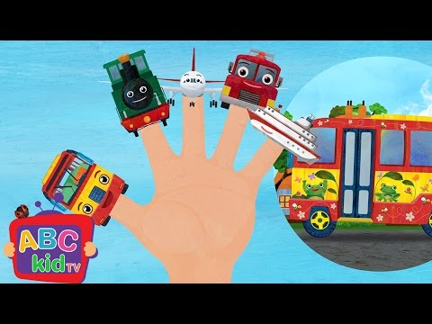 Finger Family - Vehicles   Nursery Rhymes & Kids Songs - ABCkidTV