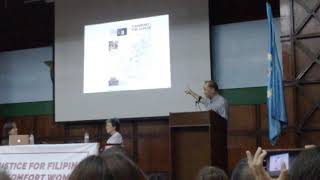 Dr. Ricardo Jose lecture on the origins of Imperial Japan's Comfort Station policy