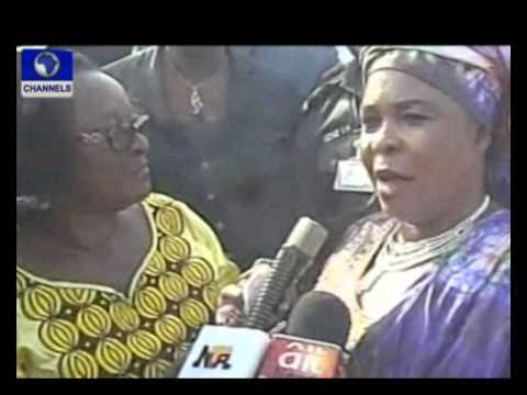 First lady of Nigeria; Dame Patience Jonathan is back in Nigeria