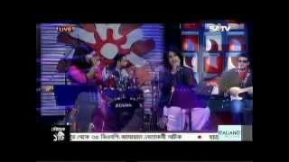 Hobo dujon shathi cover by Upama and Monty at SATV live studio concert