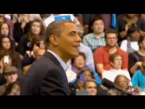 Barack Obama rally disrupted by hecklers