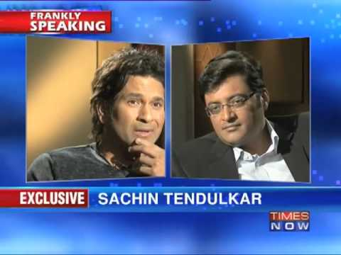 Sachin Tendulkar on Frankly Speaking with Arnab Goswami (Part 4 of 9)