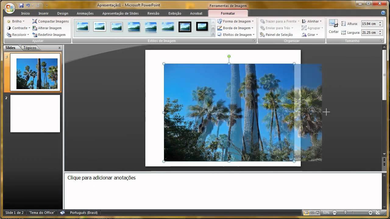 Trabalhos feitos em slides