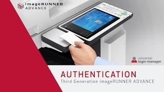 Authentication with ULM - Third Generation imageRUNNER ADVANCE
