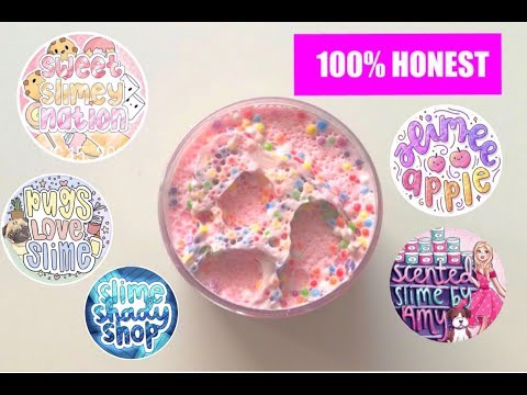 HUGE 100% HONEST FAMOUS AND UNDERRATED SLIME SHOP REVIEWS !!