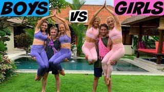 BOYS VS GIRLS EXTREME YOGA CHALLENGE! | The Rybka Twins