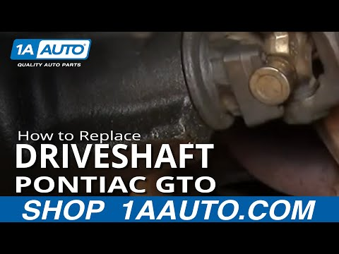 How To Remove Install Driveshaft GTO Chevelle Skylark 442 Camaro Firebird 1AAuto.com