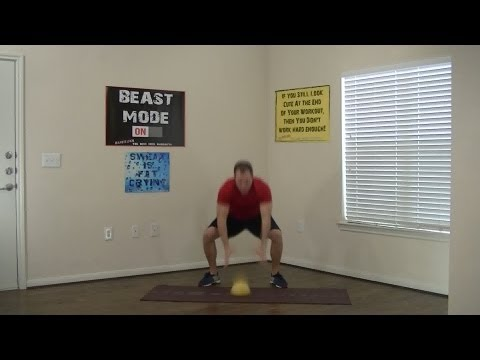 15 Minute Medicine Ball Madness Workout - HASfit Medicine Ball Exercises - Medicine Ball Workouts Image 1