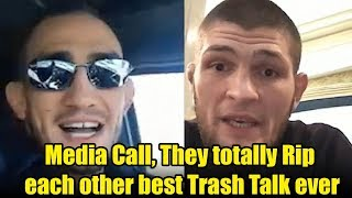 Khabib Nurmagomedov vs. Tony Ferguson Media call, They totally Rip each other best Trash Talk ever