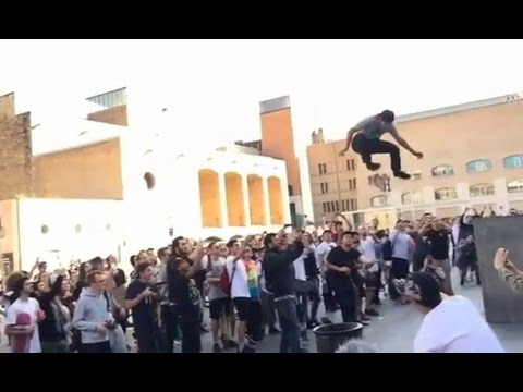 INSTABLAST! - INSANE MACBA Skateboarding!! Kickflip A SurfBoard! Gnarly Skater Vs Biker Slam!!