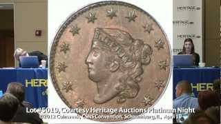 Early US Copper Sold Coins at Heritage Auctions Platinum Night, CSNS Convention