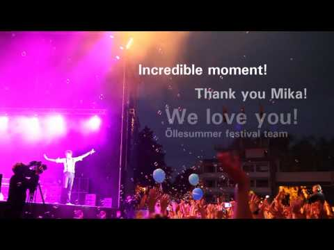 Stunning Moment At Mika Concert At Õllesummer Festival In Estonia video