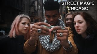 NEW Best Magician Ever Street Magic! CHICAGO reacts